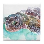 Sea Turtle 2 Tile Coaster