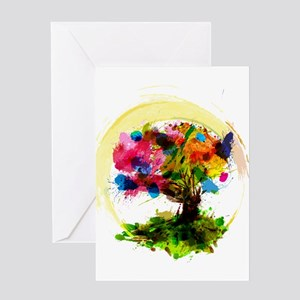 Watercolor Tree of Life Greeting Cards