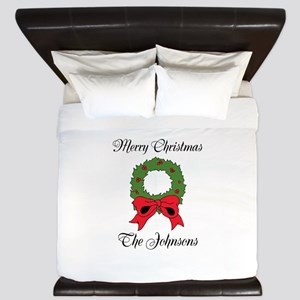 Personalized Christmas wishes King Duvet