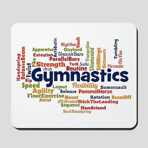 Gymnastics Word Cloud Mousepad