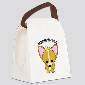 Chihuahua Dogs Rule Canvas Lunch Bag