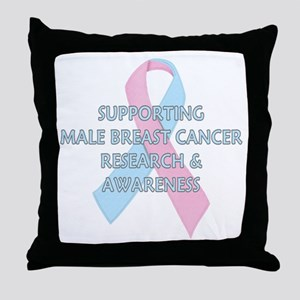 ...Male Breast Cancer... Throw Pillow