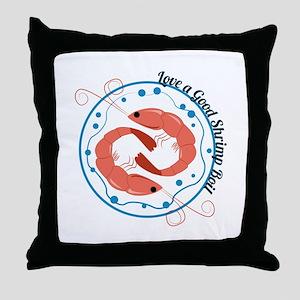 Love A Good Shrimp Boil Throw Pillow