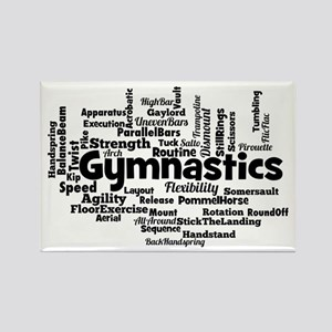 Gymnastics Word Cloud Magnets