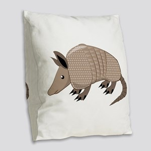 Armadillo Burlap Throw Pillow