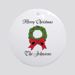 Personalized Merry Christmas Tree Ornament (round)