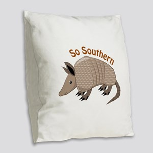 So Southern Burlap Throw Pillow