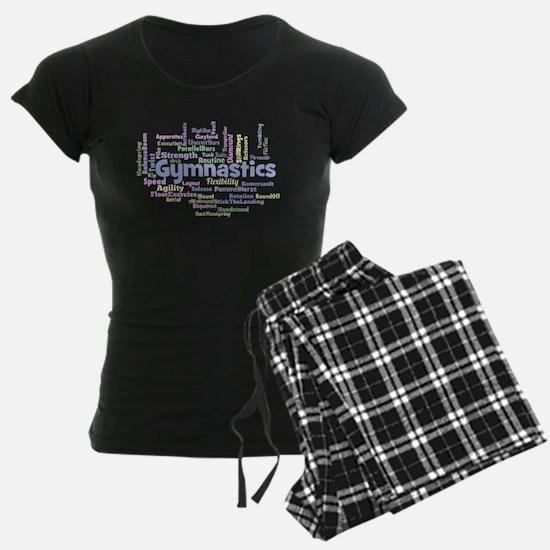 Gymnastics Word Cloud Pajamas
