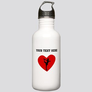 Figure Skate Heart (Custom) Water Bottle