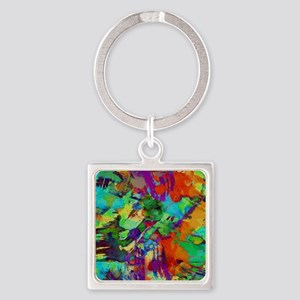 Colorful paint blots Keychains