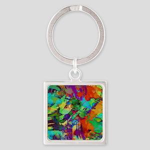 Colorful paint blots Keychains