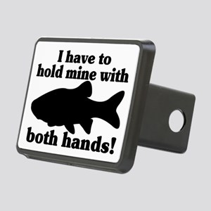 Hold My Fish With Both Han Rectangular Hitch Cover