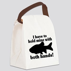 Hold My Fish With Both Hands Canvas Lunch Bag