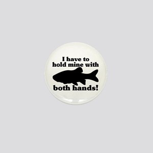 Hold My Fish With Both Hands Mini Button