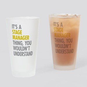 Stage Manager Thing Drinking Glass