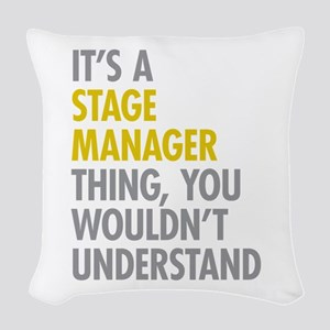 Stage Manager Thing Woven Throw Pillow