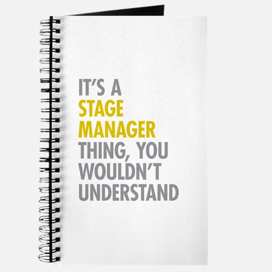 Stage Manager Thing Journal