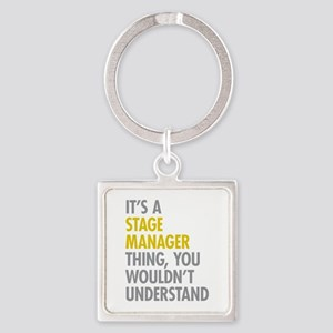 Stage Manager Thing Square Keychain