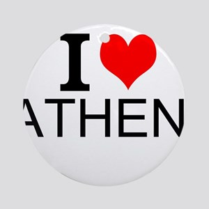 I Love Athens Ornament (Round)