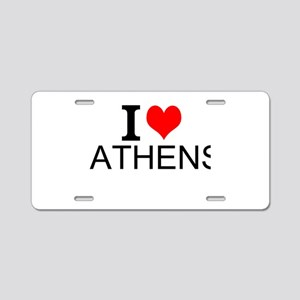 I Love Athens Aluminum License Plate