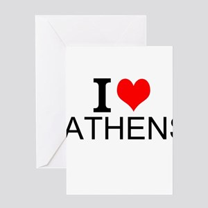 I Love Athens Greeting Cards
