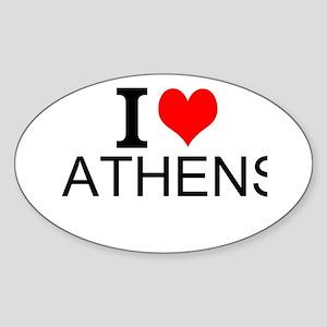 I Love Athens Sticker