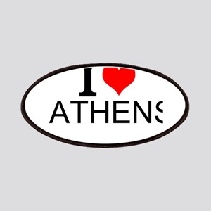 I Love Athens Patches