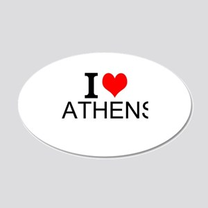 I Love Athens Wall Decal