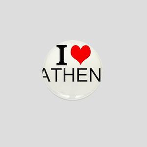 I Love Athens Mini Button