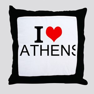 I Love Athens Throw Pillow