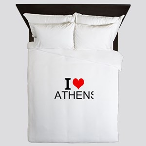 I Love Athens Queen Duvet