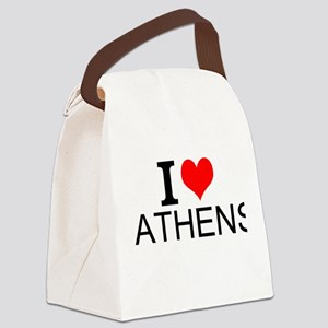 I Love Athens Canvas Lunch Bag
