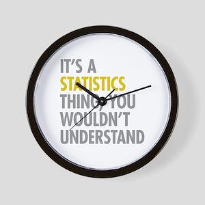 Its A Statistics Thing Wall Clock