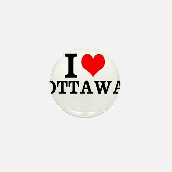 I Love Ottawa Mini Button