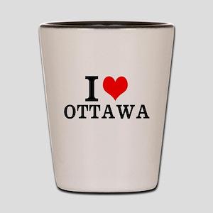 I Love Ottawa Shot Glass