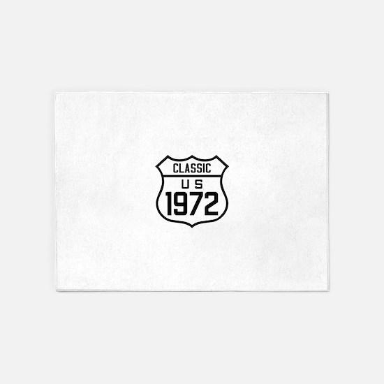 Classic US 1972 5'x7'Area Rug
