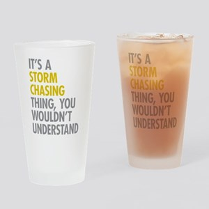 Storm Chasing Thing Drinking Glass