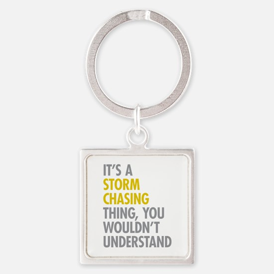 Storm Chasing Thing Square Keychain