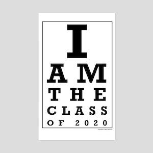 Class of 2020 Eye Chart Sticker