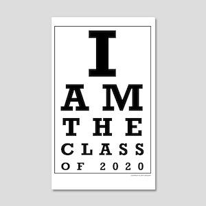Class of 2020 Eye Chart Wall Decal