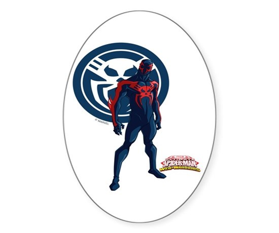 Spider man 2099 standing sticker oval