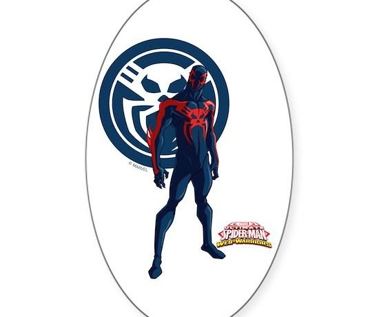 Spider man 2099 standing sticker oval