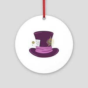 Mad Hatter Hat Ornament (Round)