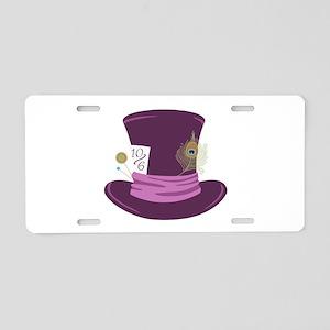Mad Hatter Hat Aluminum License Plate