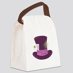 Mad Hatter Hat Canvas Lunch Bag