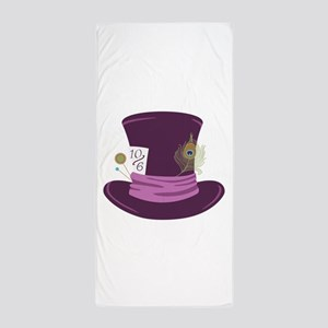 Mad Hatter Hat Beach Towel