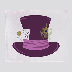 Mad Hatter Hat Throw Blanket
