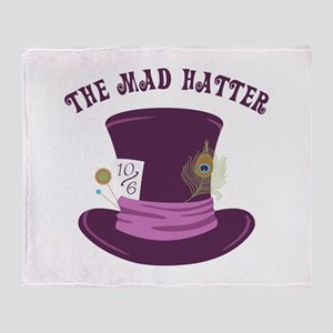 The Mad Hatter Throw Blanket