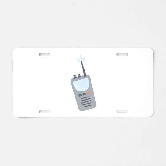 Walkie Talkie Aluminum License Plate