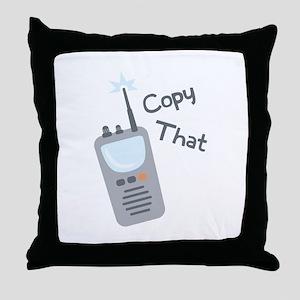 Copy That Throw Pillow